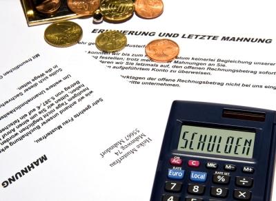 Mahnung / Schulden