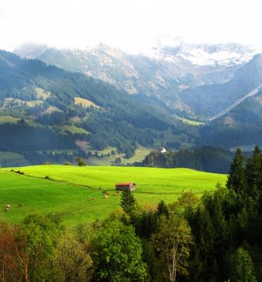 Allgäu-Landschaft bei Ofterschwang