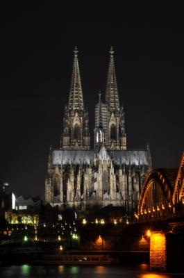 Kölner Dom am Abend - 2