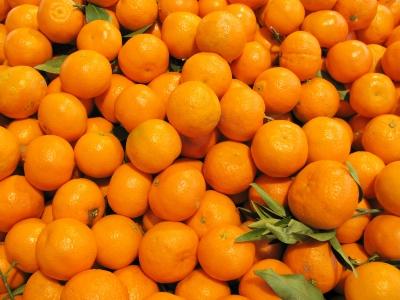 Viktualienmarkt München: Clementinen am Obststand