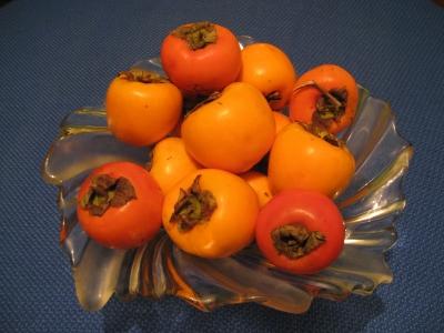 Reife Kaki-Früchte