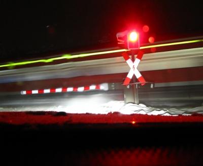Rotlicht Schranke Zug