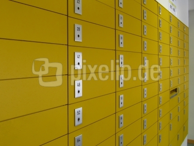 Postfächer im Postamt