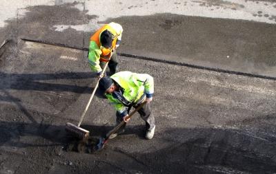Teamwork Straßenbau