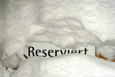 Reserviert im Winter