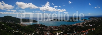 KARIBIK Charlotte Amalie St.Thomas US Virgin Islands Panorama