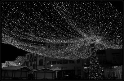 Weihnachtsbeleuchtung s/w