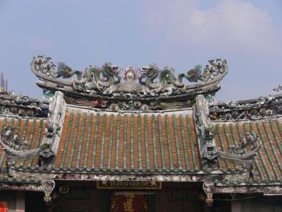 alter, chinesischer Tempel  in Bangkok, Thailand