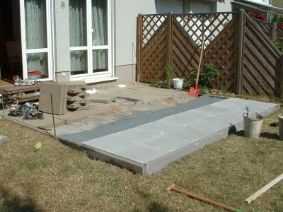 kostenloses foto terrassenbau. Black Bedroom Furniture Sets. Home Design Ideas