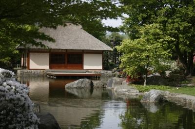 Das Teehaus im Japanischen Garten