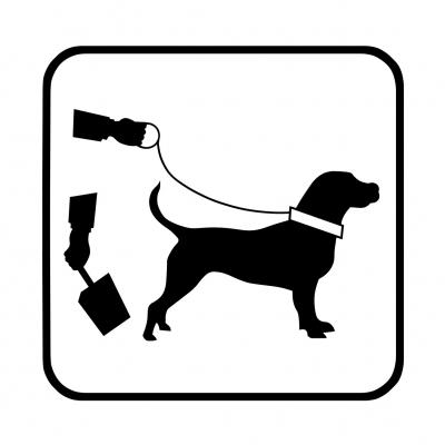 Hinweisschild für Hundehalter