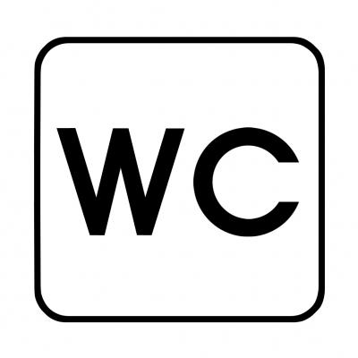 WC - Hinweisschild