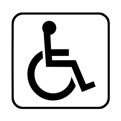 Hinweisschild: Behinderte