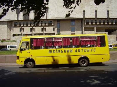 Ukrainischer Schulbus