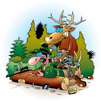 Hirsch auf der Pirsch