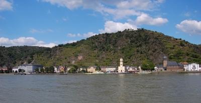 Sankt Goarshausen, Blickrichtung von Sankt Goar aus #2