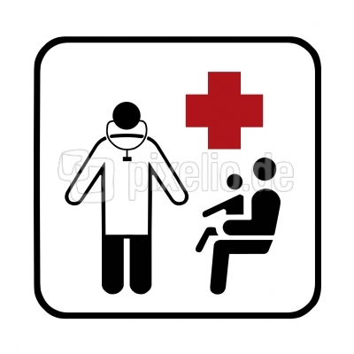 Hinweisschild: Arztpraxis