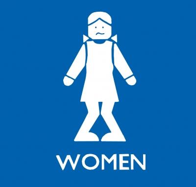 Women - Originelles Toilettenschild!