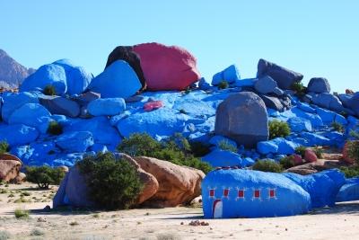 Marokko - Tafraoute - Bemalte Felsen