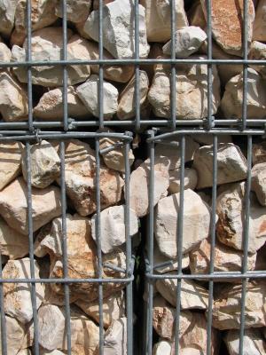 Detail: Steinmauer