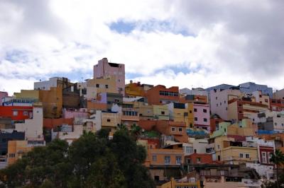 Bunte Häuser in Las Palmas de Gran Canaria