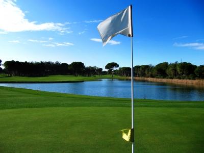 Golfen in Belek, Montgomerie-Course, Bahn 4