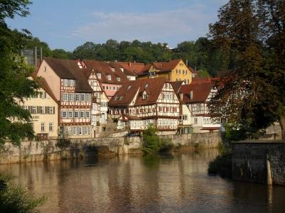 Blick zur Katharinenvorstadt in Schwäbisch Hall