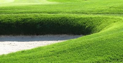 Golfer's Spielwiese mit Sandbunker