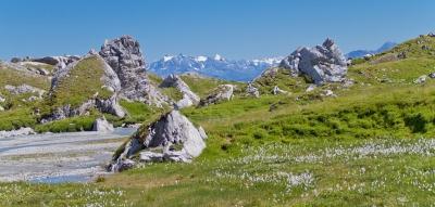 Sonniges Alpenpanorama