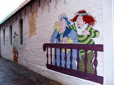 """Norden Bild auf der Fassade der """"Piratenschule"""""""