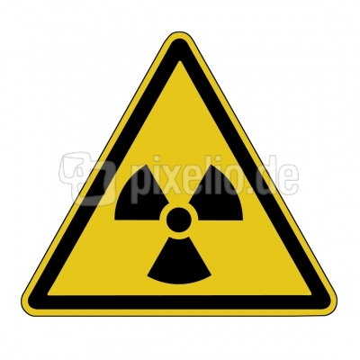 Warnschid: Radioaktivität!
