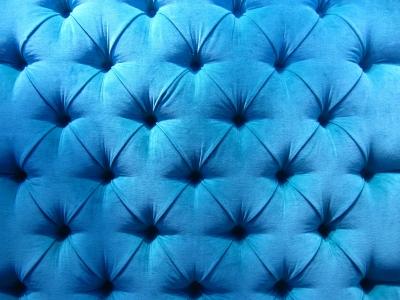 Fond Polster in blau