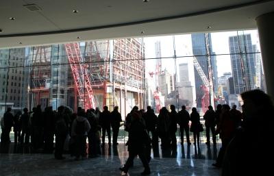 Ausblick auf Baustelle Ground Zero