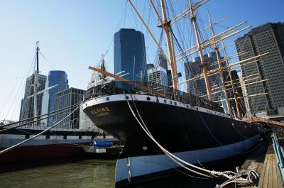 Museumsschiff Peking im New Yorker Hafen