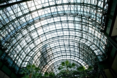 Glasdach-Konstruktion im Financial Center NYC