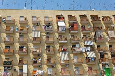 Hausfassade in Neapel