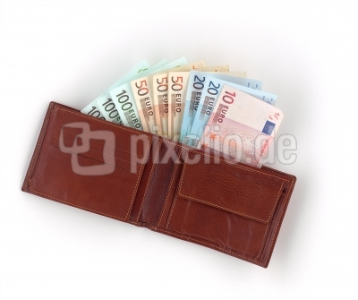 Brieftasche - prall gefüllt!