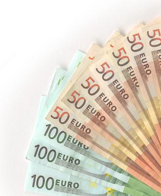 Geldscheine gefächert