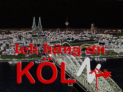 Katze Kittycat hängt an Köln