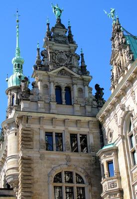 Innenhof des Hamburger Rathauses (Teilansicht)