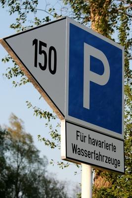 Parkplatz für havarierte Wasserfahrzeuge