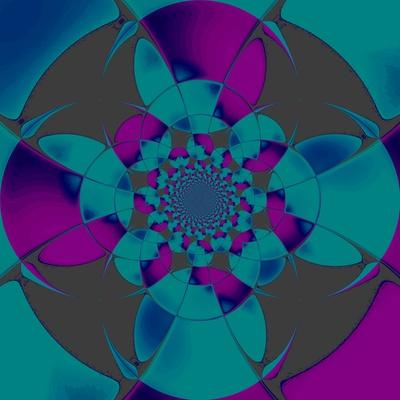 Rosette violett