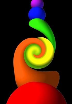 Regenbogenspirale schwarz