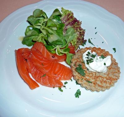 Lachs & Salat