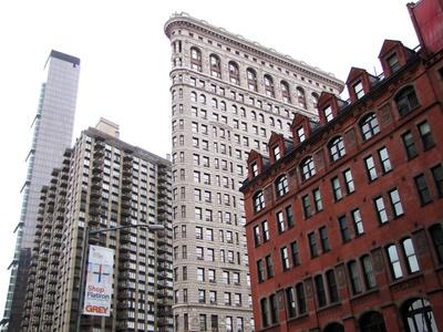 Hochhaus-Generationen im Flatiron-Bezirk, NYC-Manhattan