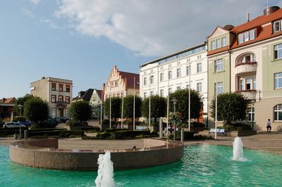 Marktplatz in Bergen auf Rügen