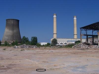 Ruine des Zschornewitzers Kraftwerk