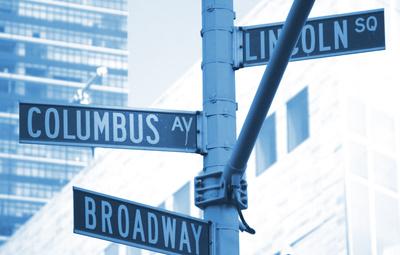 Manhattan - Straßenschild Broadway
