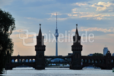 Berlin, Sonnenuntergang am Oberbaum