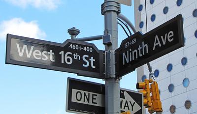 Straßenschilder Manhattan Ninth Avenue